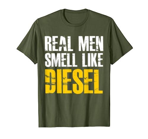 Real Men Smell Like Diesel Mechanic T-Shirt