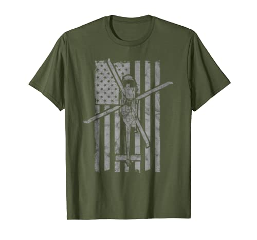 SH-60 Sea Hawk Military Helicopter Vintage Flag T-Shirt