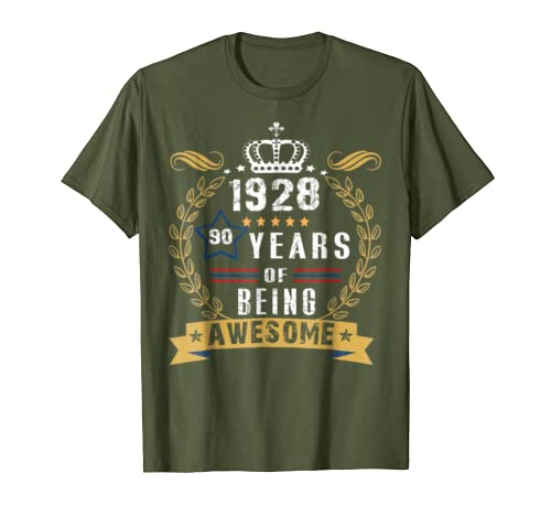 Happy 1928 Its My 90th Birthday Gift Ideas Tshirt For Love