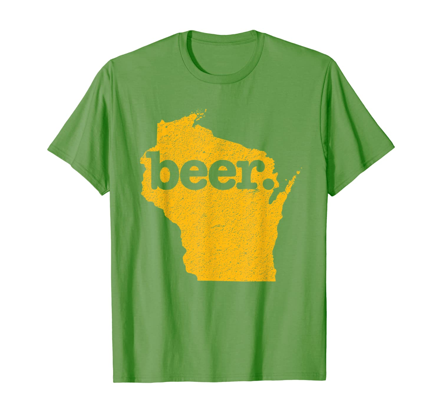 Wisconsin Beer Home State Love Cheesehead Distressed T-Shirt
