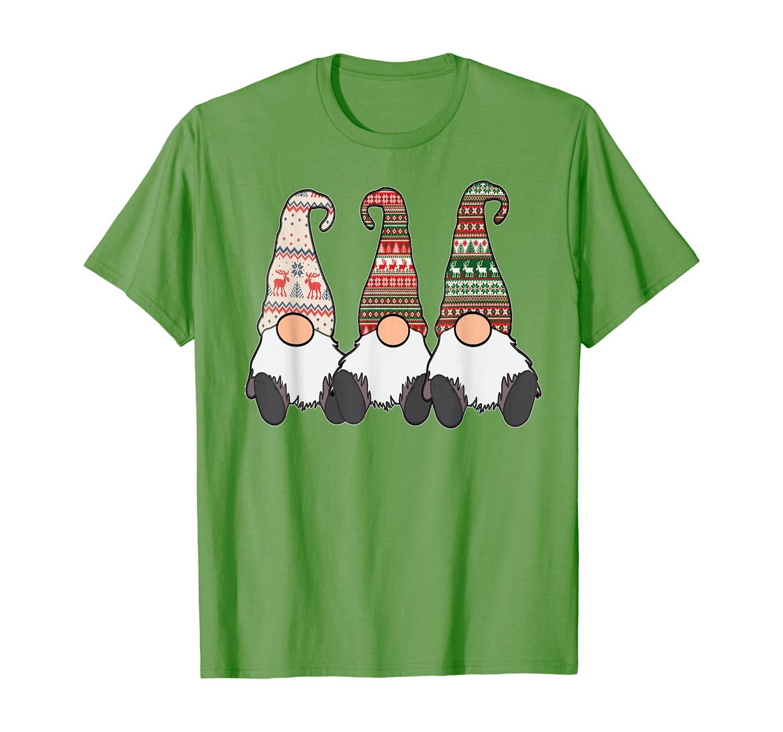 3 Nordic Gnomes Winter Christmas Swedish Tomte Cute Elves T-Shirt