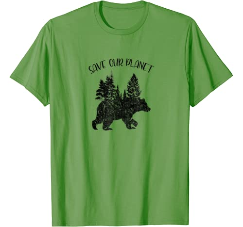 Earth Day Save Our Planet Climate Costume Bear Lover Gift T Shirt