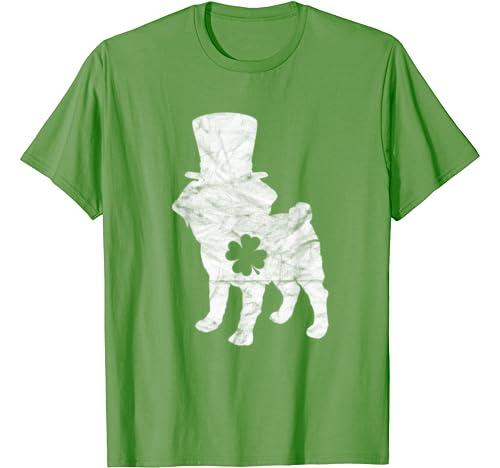 Retro Frenchie Hat Gift French Bulldog Dog St Patrick's Day T Shirt