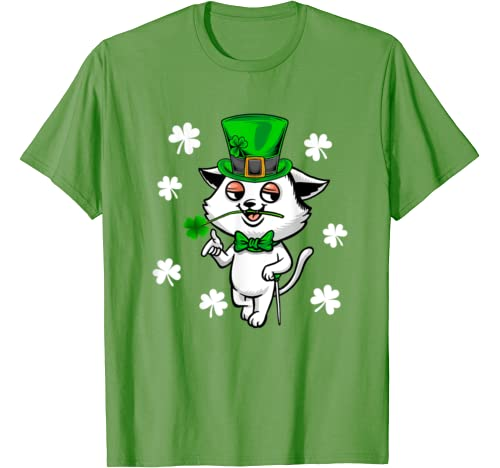 Cats Animal Lover Leprechaun Lucky Cat St. Patrick's Day T Shirt