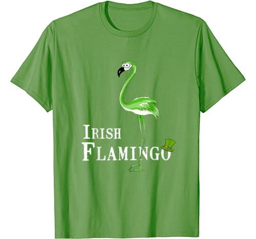 Irish Flamingo Leprechaun Hat St Patricks Day Gift Men Women T Shirt