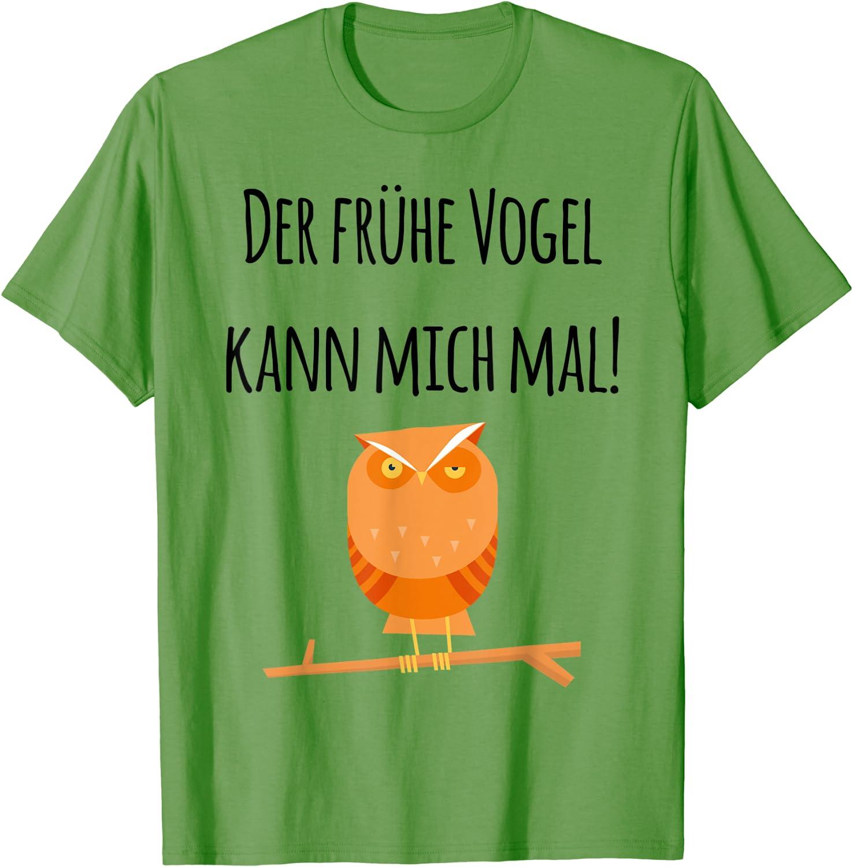 Der frühe Vogel kann mich mal! Verschlafene mürrische Eule T-Shirt