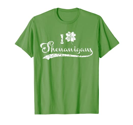 272e41830 Image Unavailable. Image not available for. Color: I clover Shenanigans T- shirt Love shamrock St. Patrick's day