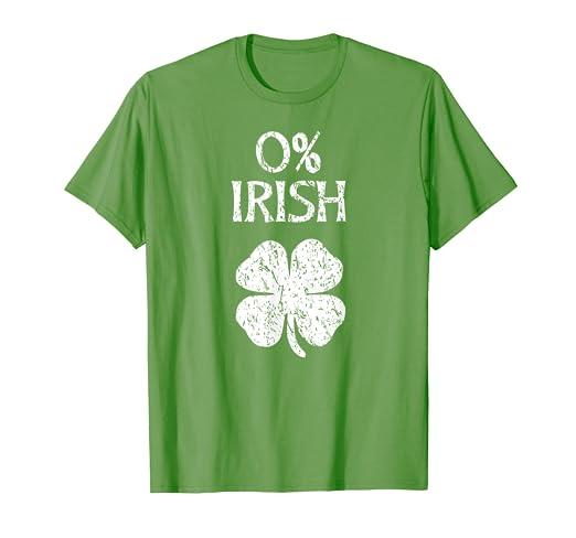 f2534e4aa7 Amazon.com: 0% Irish St. Patrick's Graphic T Shirt: Clothing