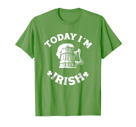 Design Today Clothing | Amazon Com Cool Design Today I M Irish St Patricks Day T Shirt