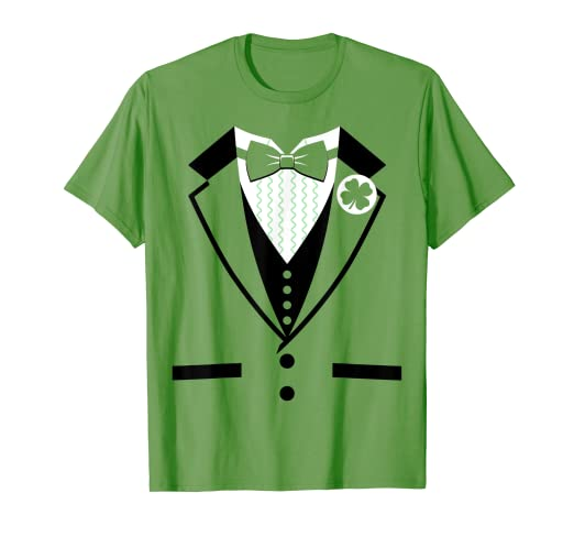 aaa9b0ec Image Unavailable. Image not available for. Color: Leprechaun Costume Tuxedo  St. Patrick's Day T-shirt