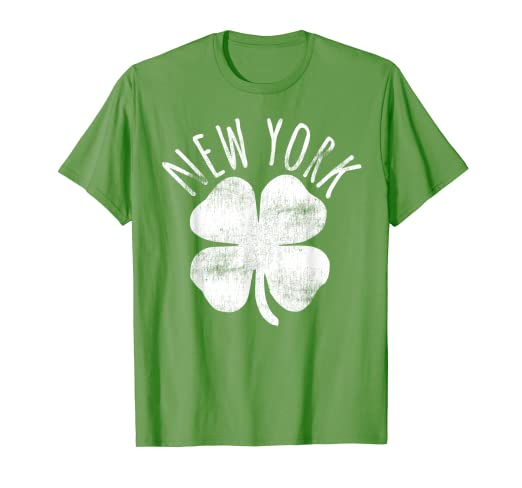 4dd7c173 Image Unavailable. Image not available for. Color: New York NY City St. Patrick's  Day Shamrock Irish T-Shirt