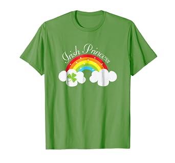 5c4585b90 Image Unavailable. Image not available for. Color: Irish Princess St  Patricks Day Rainbow Shamrock T-shirt