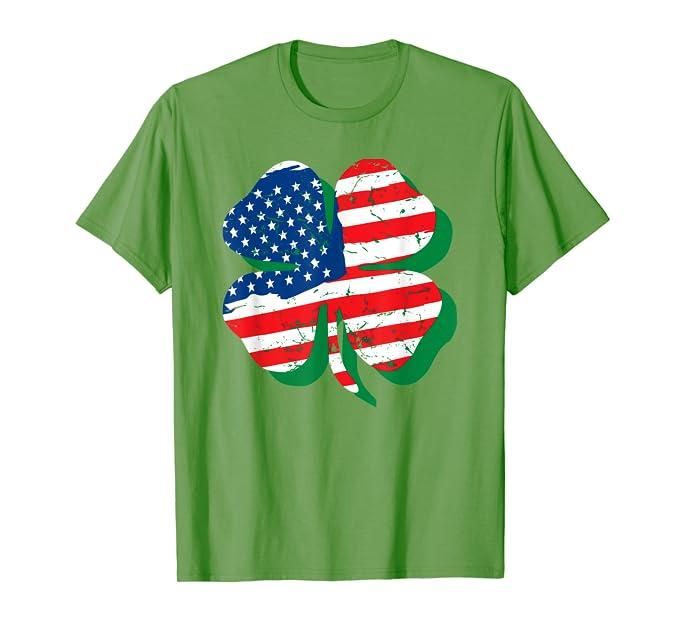 American Irish Flag St Patricks Day for Men Women T shirt
