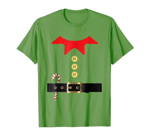 57fb0700 Image Unavailable. Image not available for. Color: Santa Elf Costume  Holiday Christmas T-Shirt ...