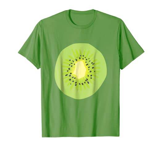 1cd8b202f7ba82 Image Unavailable. Image not available for. Color: Kiwi Fruit Green Simple  Cute Cheap Halloween Costume T-Shirt