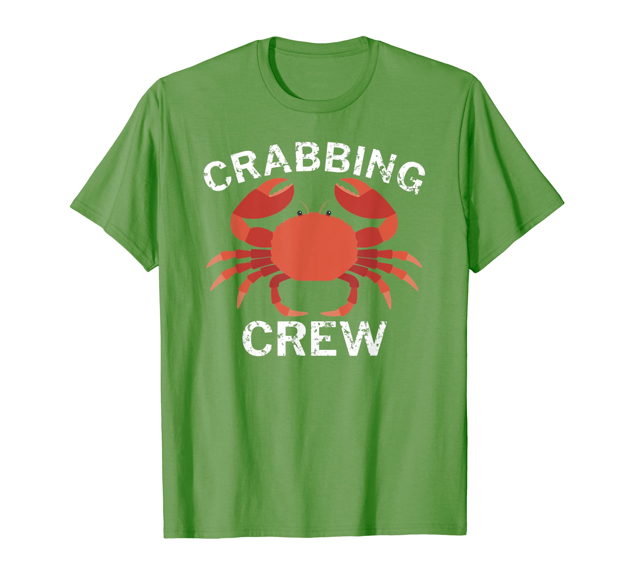 2b549de3f Crabbing Crew Funny Crab Fishing T-Shirt at Amazon Men's Clothing store: