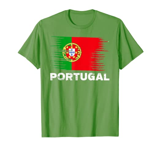 25c440094 Image Unavailable. Image not available for. Color: Portugal - Portuguese  Flag Shirt | Sports Soccer Football