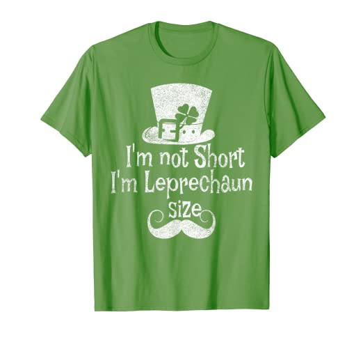 ffbbe5fb7 Image Unavailable. Image not available for. Color: I'm not Short I'm  Leprechaun size St Patricks day t-shirt