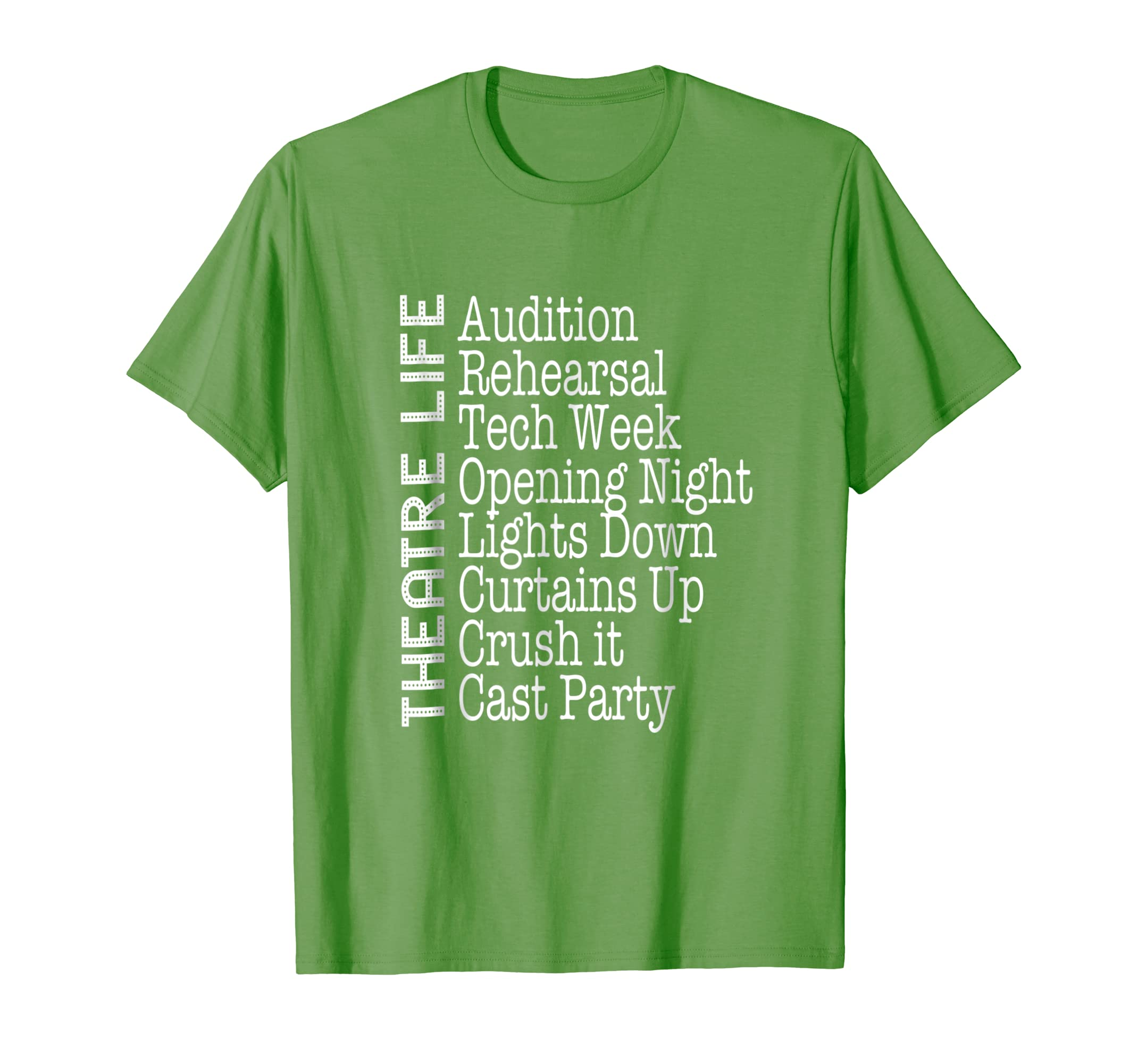d84d96ba005 Amazon.com  Theatre Gift Broadway Actor Shirt Musical Lover Acting Tee   Clothing