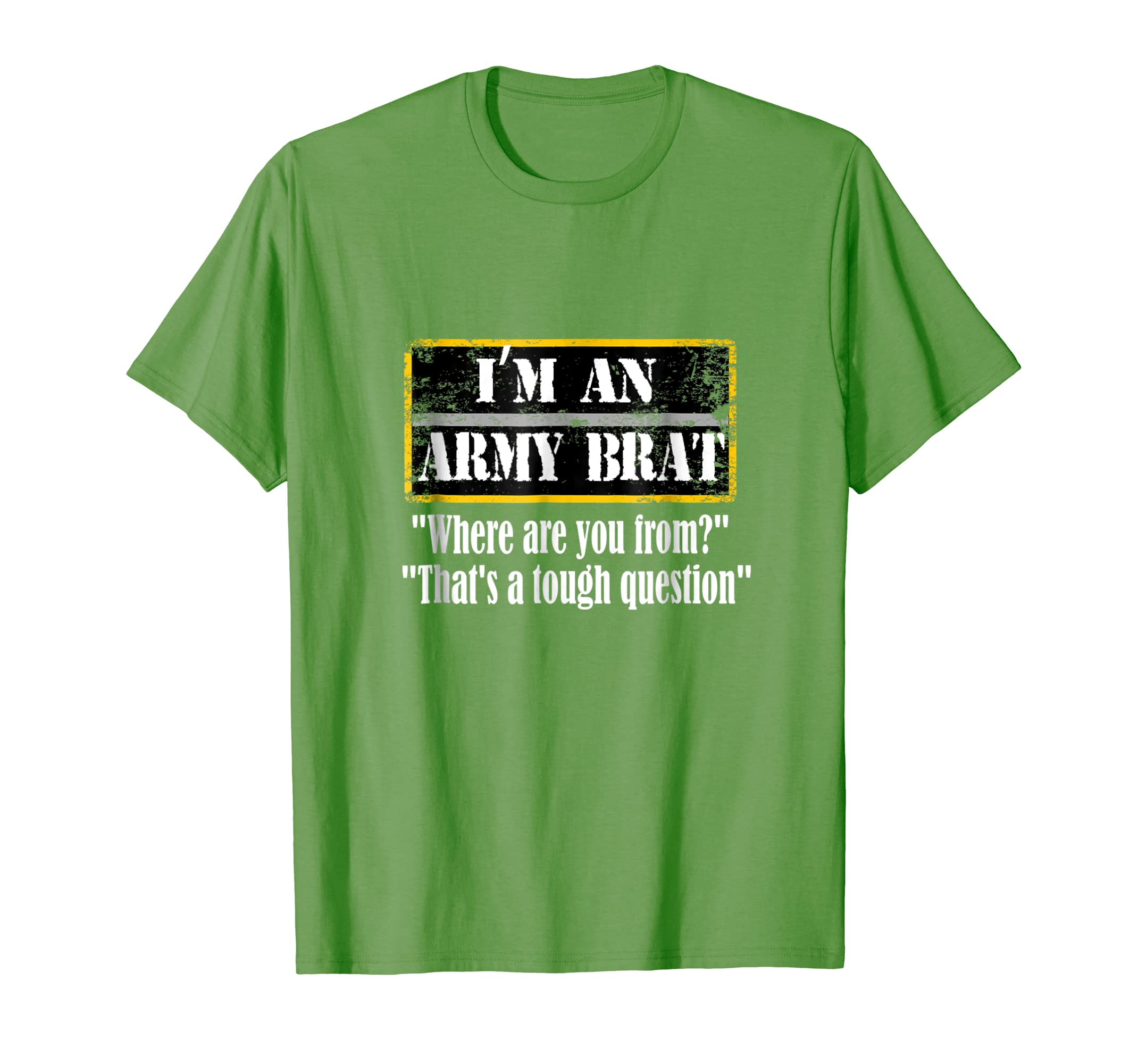 8700b389 Amazon.com: I'm An Army Brat T-Shirt: Clothing