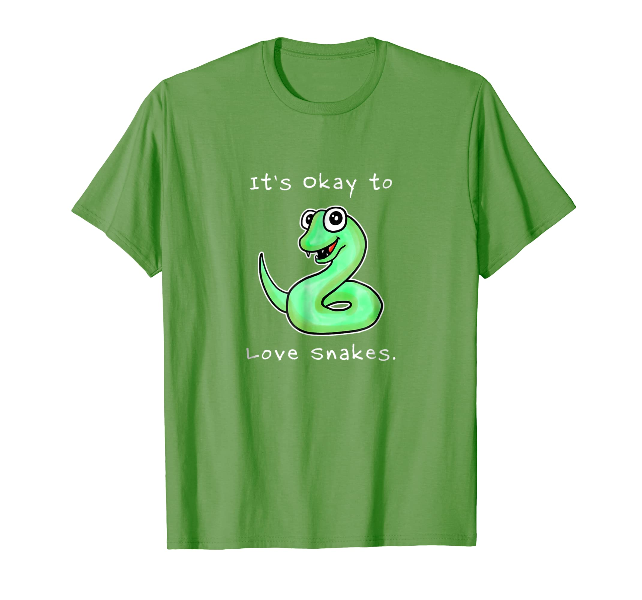 f8867cb57782 Amazon.com: It's Okay To Love Snakes T-Shirt Funny Snake Tee by Kayleel:  Clothing