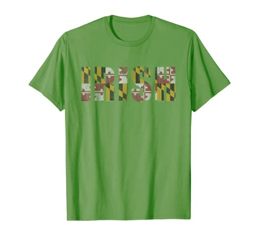 504b6183 Image Unavailable. Image not available for. Color: Irish Flag of Maryland St  Patrick's Day T Shirt