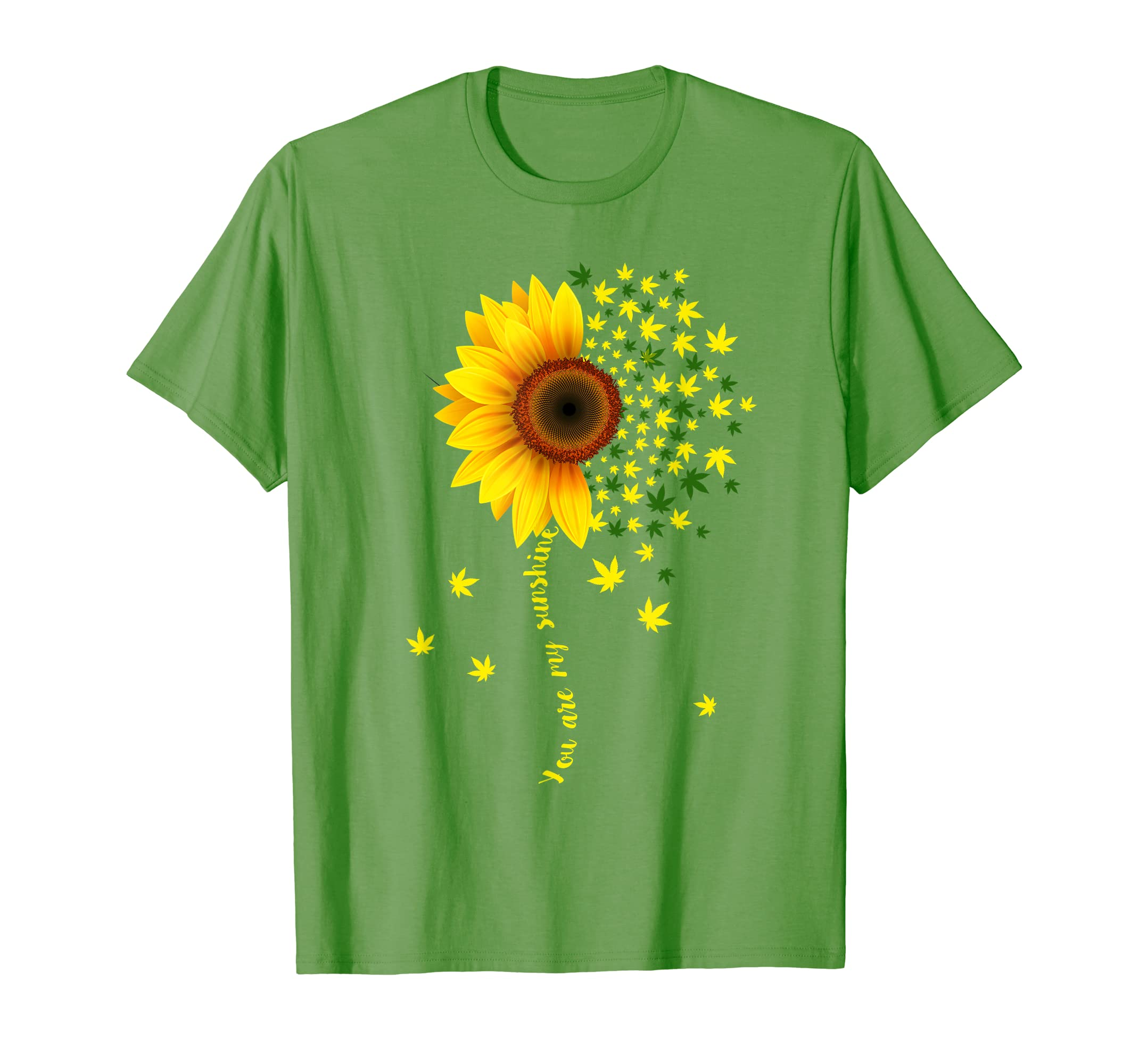 You Are My Sunshine Cannabis Weed Leaf Lover T Shirt-Protee
