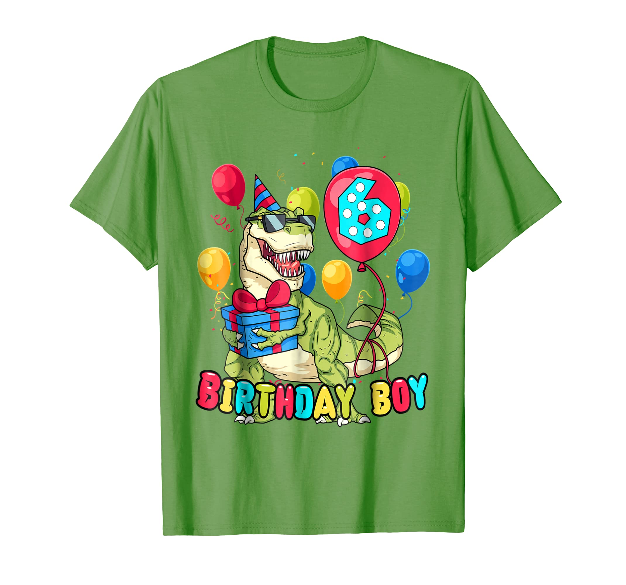 It's My 6TH Birthday Shirt Dinosaur Party For 6 YEAR Old
