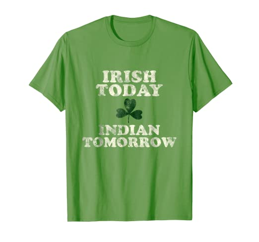 373f16cb2 Amazon.com: Funny Indian Irish St. Patrick's Day Shirt India Native ...