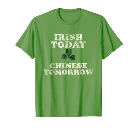 3a3ebcd03d Image Unavailable. Image not available for. Color: Funny Chinese Irish St. Patrick's  Day Shirt China Asia