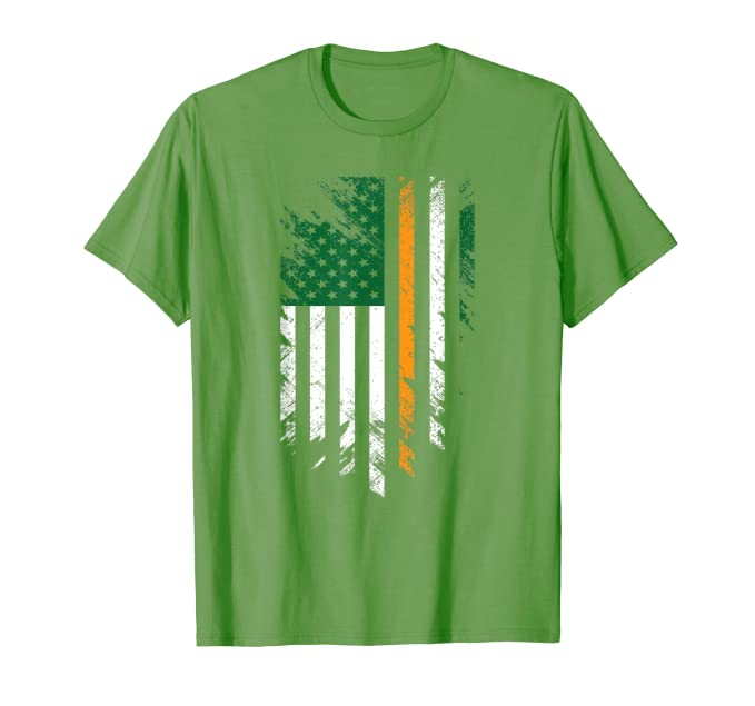 Irish American Flag Shirt St. Patrick's Day