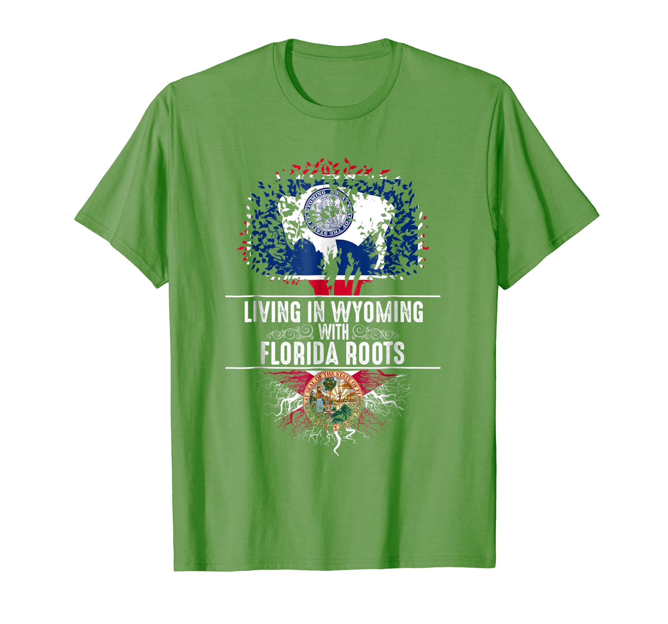 Wyoming Home Florida Roots State Tree Flag Shirt Love Gift-SFL