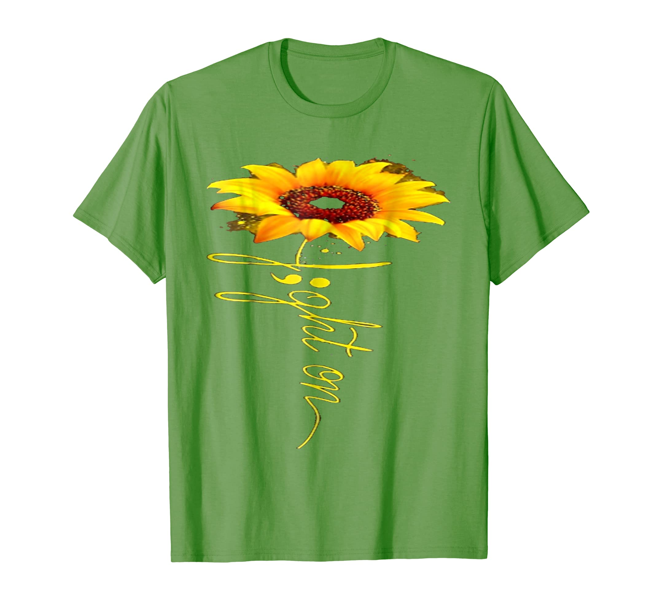Fight on sunflower mental health T shirt-azvn