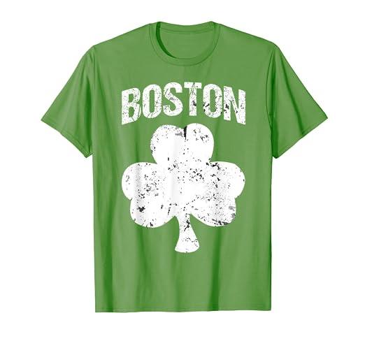 98b2c15b8 Image Unavailable. Image not available for. Color: Boston St Patrick's Day T -Shirt Boston Irish Shamrock Shirt