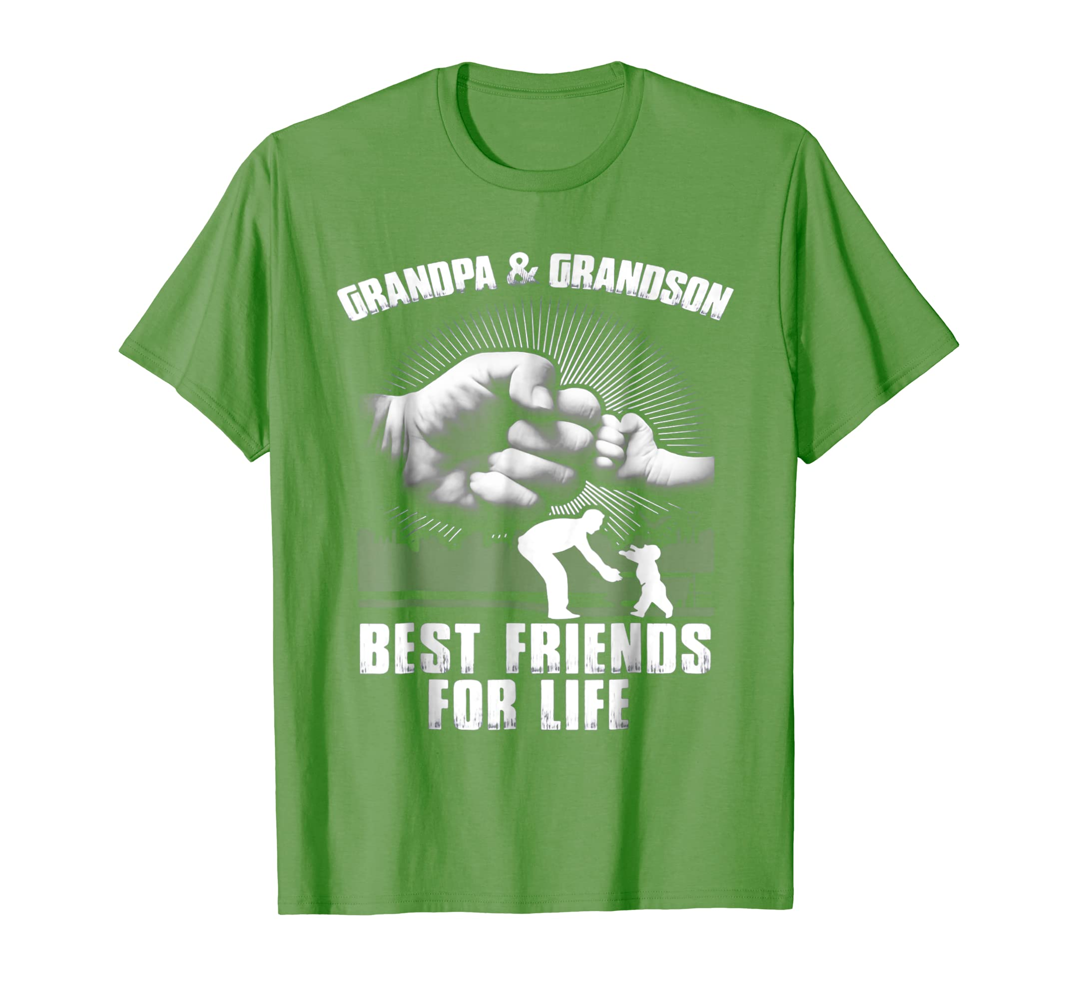 Grandpa And Grandson Best Friends For Life T-Shirt-SFL