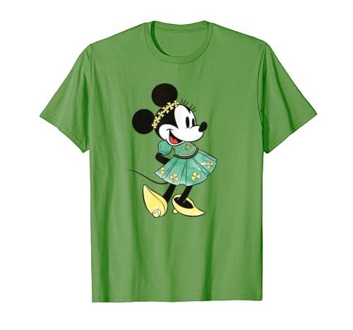 Disney Minnie Mouse Shamrock Dress St. Patrick's Day T-Shirt