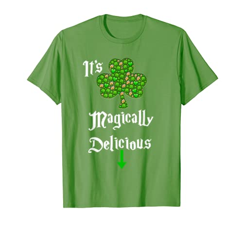895557f3d Amazon.com: It's Magically Delicious Tee,St Patricks Day Drinking Shirts:  Clothing
