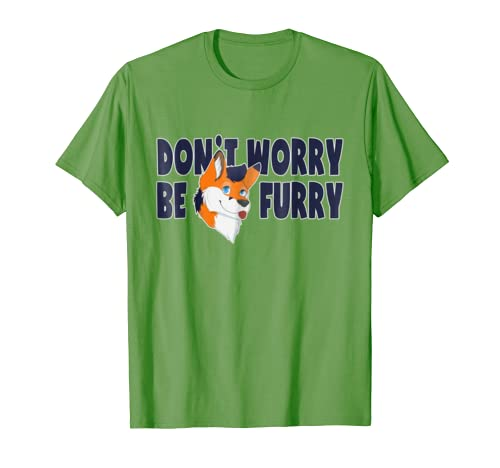 Amazon.com: Furries T-Shirt Dont Worry Be Furry Fandom Tee Shirt: Clothing