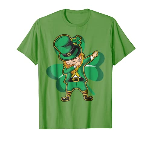 Amazon.com  Dabechaun - Funny Leprechaun Dabbing St Patricks Day Shirt   Clothing c4d719555