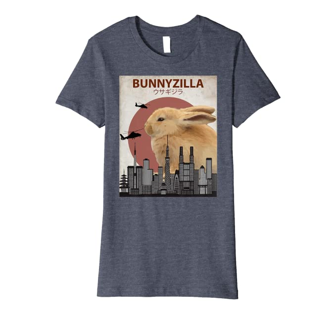 addef22a Amazon.com: Bunnyzilla Bunny T-Shirt | Funny Gift for Rabbit Lovers:  Clothing