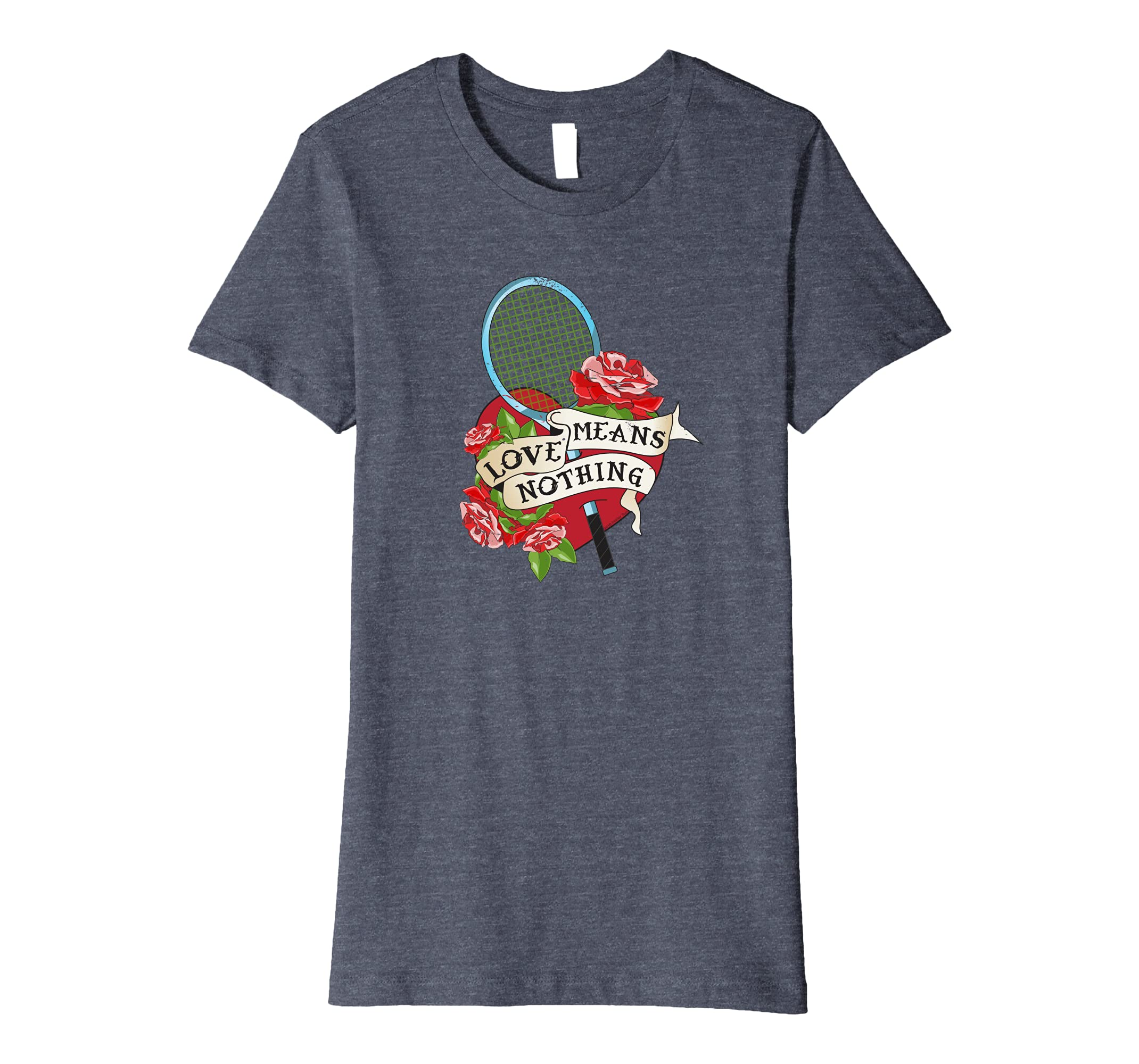 Amazon com: Love Means Nothing Funny Retro Tennis T-Shirt: Clothing