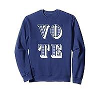 Vote (retro-style) T-shirt Sweatshirt Navy
