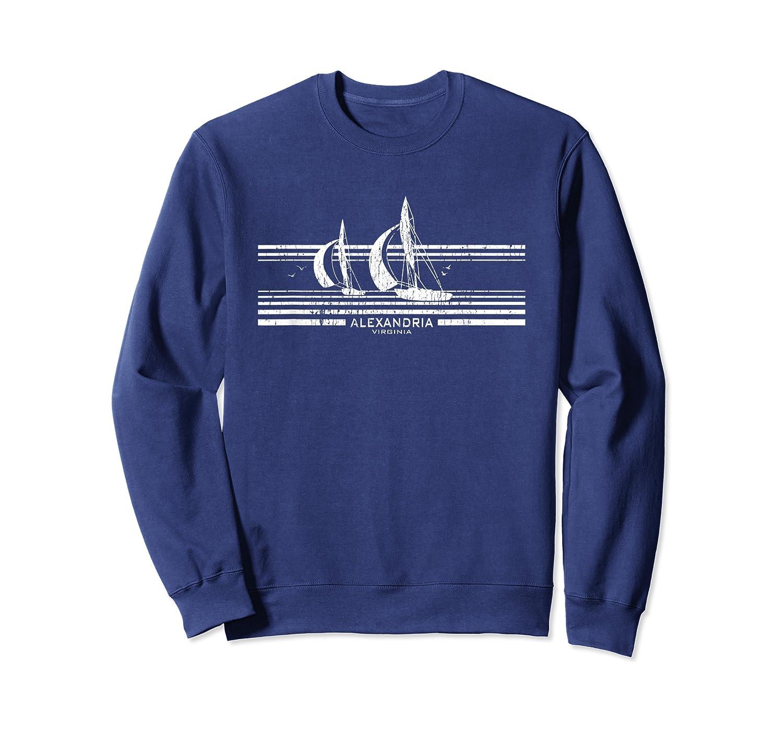 Alexandria Va Sailboat T-shirt Vintage 70s Sailing Tee Crewneck Sweater