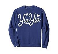 Yiayia For Yiayia Birthday Gifts Cute Yiayia Shirts Sweatshirt Navy