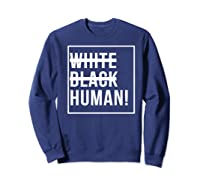 Black Human Shirts Sweatshirt Navy