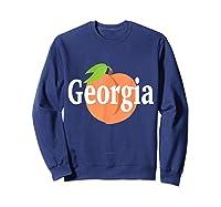 Georgia Peach State Pride Southern Roots T Shirt Sweatshirt Navy