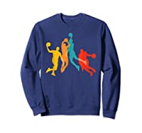 Basketball Vintage Bball Basketball Player Dunk Sport Gift Shirts Sweatshirt Navy
