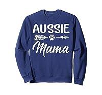 Aussie Mama Dog Mom Cute T-shirt Sweatshirt Navy