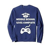 Funny Middle School Graduation Video Gamer Tshirt Sweatshirt Navy