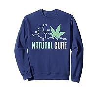 Natural Cure Cbd T-shirt Sweatshirt Navy